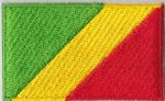 Congo Brazzaville Embroidered Flag Patch, style 04